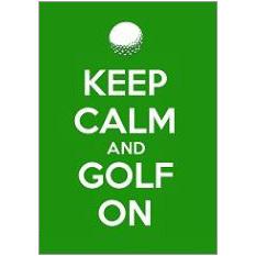 Keep Calm Golf Fridge Magnet