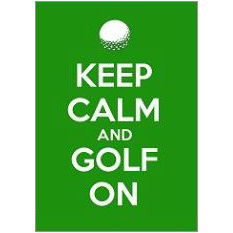 Keep Calm Golf Fridge Magnet