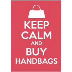 Keep Calm Handbags Fridge Magnet