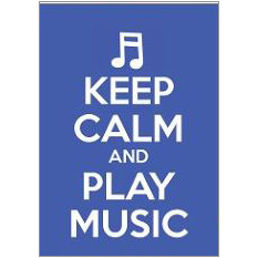 Keep Calm Music Fridge Magnet