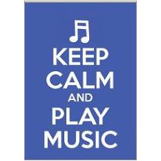 Keep Calm Music Fridge Magnet