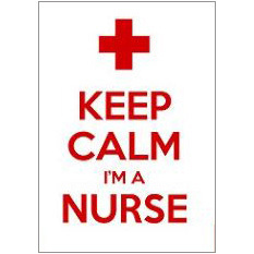 Keep Calm Nurse Fridge Magnet