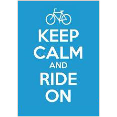 Keep Calm Ride Fridge Magnet