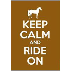 Keep Calm Ride Horse Fridge Magnet