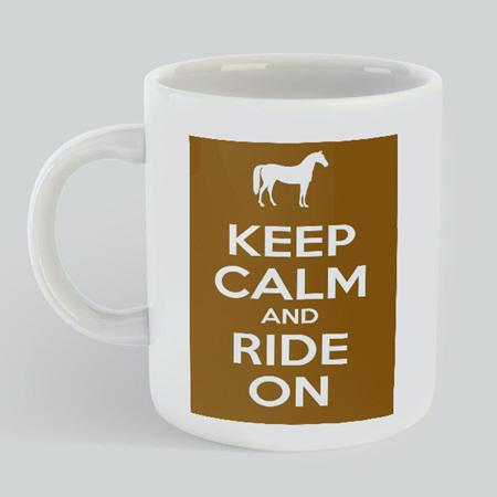 Keep Calm Ride Horse Mug