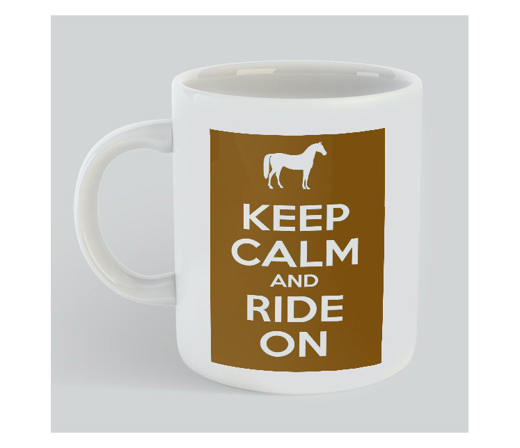 Keep Calm Ride Horse Mug
