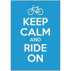 Keep Calm Ride Fridge Magnet