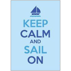 Keep Calm Sail Fridge Magnet
