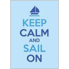 Keep Calm Sail Fridge Magnet