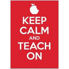 Keep Calm Teach Fridge Magnet