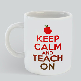 Keep Calm Teach On Mug