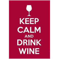 Keep Calm Wine Fridge Magnet