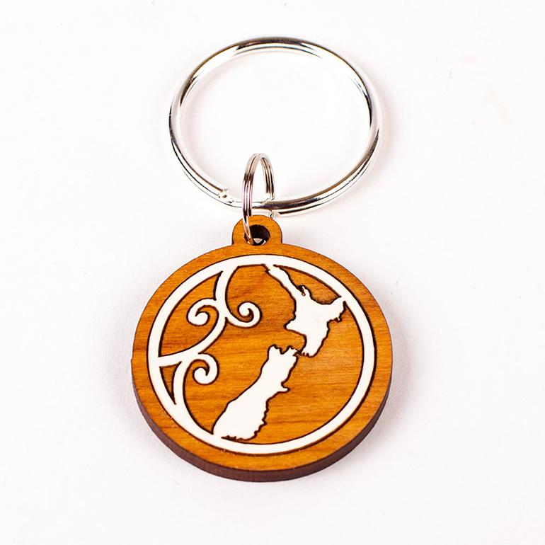 keeper key ring - map