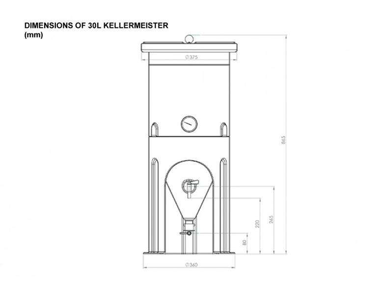Kellermeister Cone Fermenter 30L