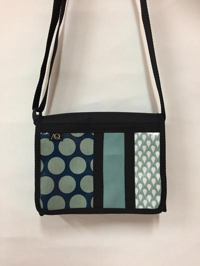 Kelpie satchel - three teals