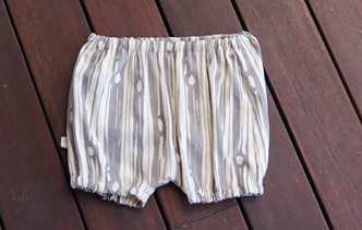 'Kensley' Bloomers, 'Bear Bois' GOTS Organic Cotton, 0-3m