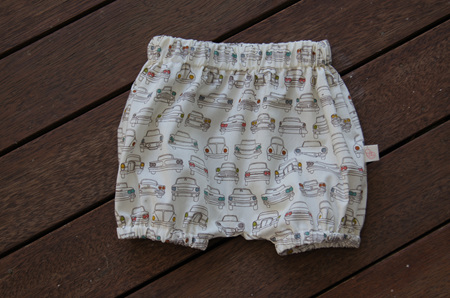 'Kensley' Bloomers, 'Cars' 100% GOTS Organic Cotton, 0-3 months