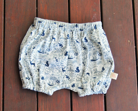 'Kensley' Bloomers, 'Enchanted Garden' 100% Cotton, 9-12 months
