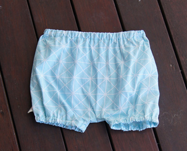 'Kensley' Bloomers, 'Geo Blue' 100% Cotton, 3-6m