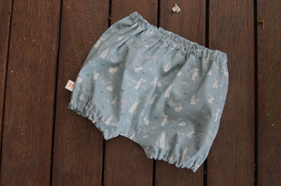 """Kensley"" Bloomers, 'Hello Bunny, Mint' 100% Cotton, 0-3 mths"