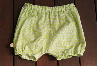 'Kensley' Bloomers, 'Scribble Green' 100% Cotton, 18m