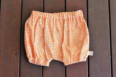 'Kensley' Bloomers, 'Scribble Orange' 100% Cotton, 6-9m
