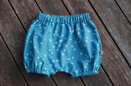 'Kensley' Bloomers, 'Wink, Teal' 100% GOTS Organic Cotton, 9-12 months