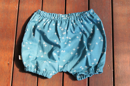 'Kensley' Bloomers, 'Wink Teal' GOTS Organic Cotton, 18m