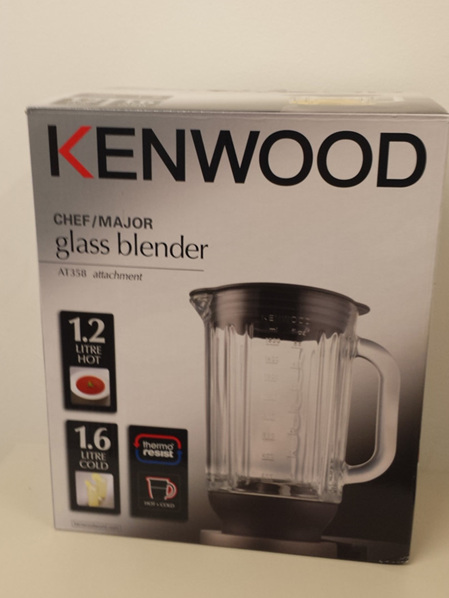 Kenwood Chef/Major Glass Blender Jug AT358 Attachment / KAH358GL