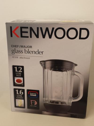 Kenwood Chef/Major Glass Blender Jug AT358 Attachment / KAH358GL