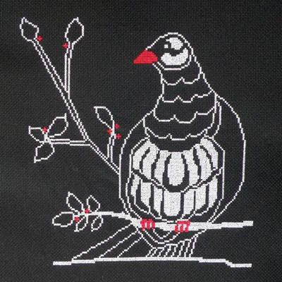 kereru counted cross stitch chart