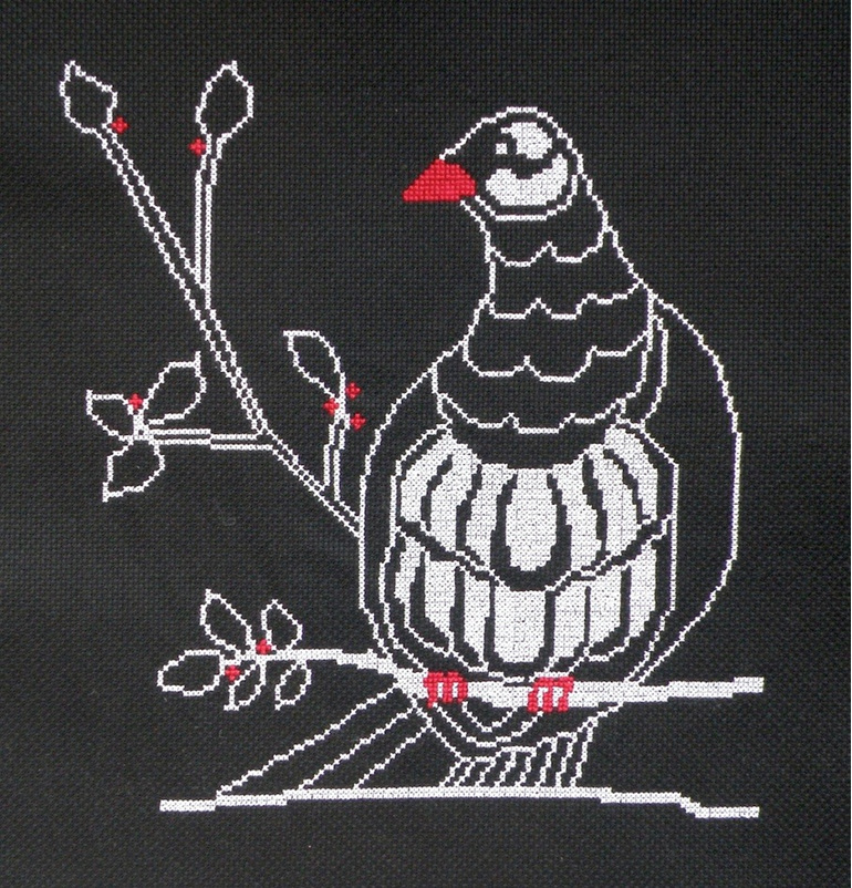 kereru cross stitch chart