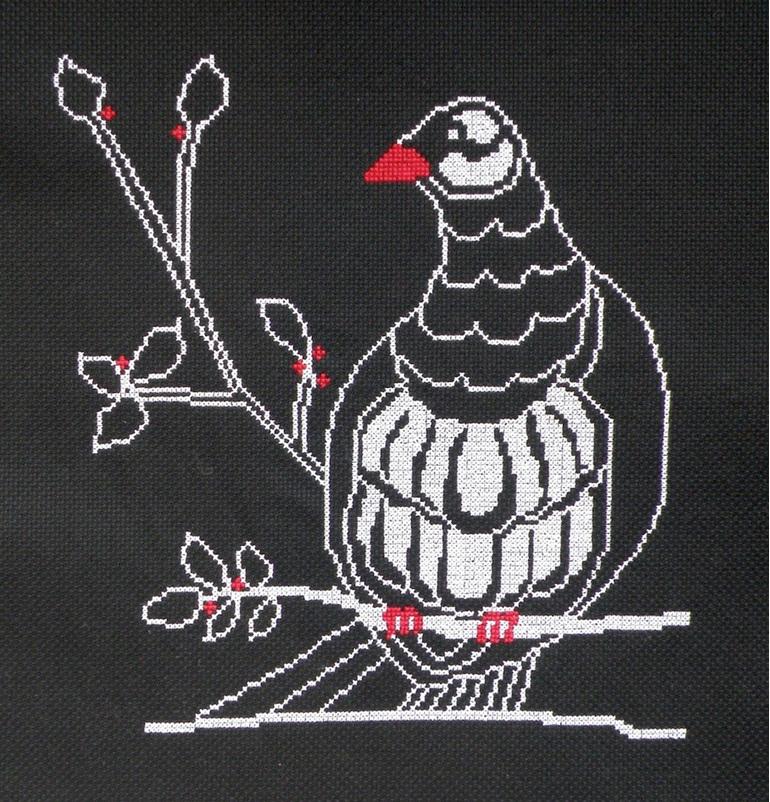 kereru cross stitch chart