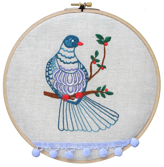 Kereru embroidery kit thestitchsmith