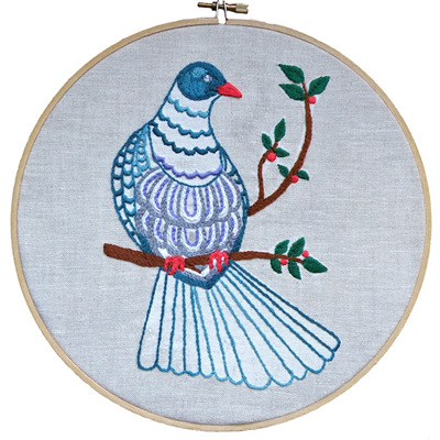 Kereru embroidery emailed pdf pattern