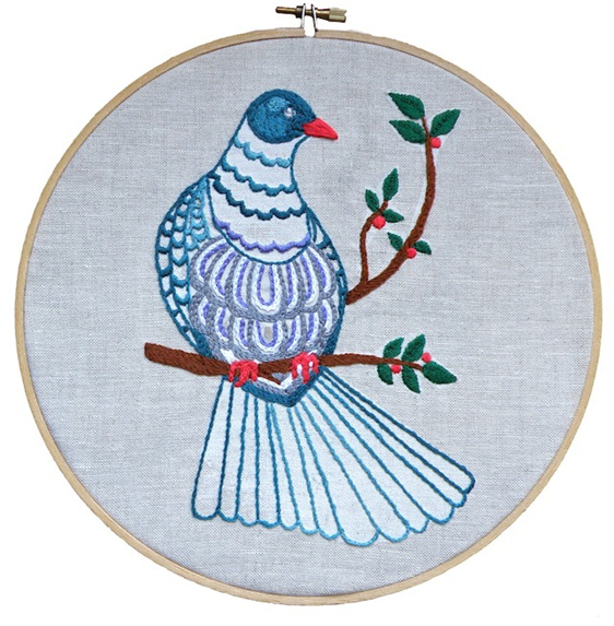Kereru embroidery emailed pdf pattern thestitchsmith