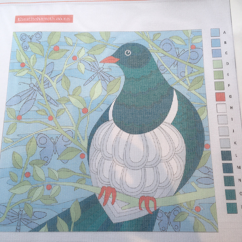 kereru needlepoint canvas