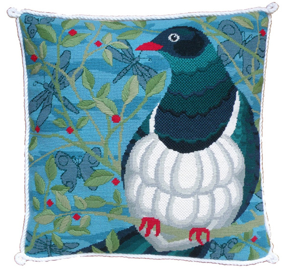 kereru needlepoint kit new zealand birds