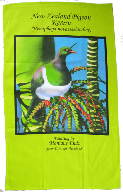 Kereru tea towel