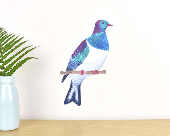 Kereru wall decal