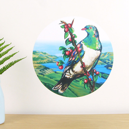 Kereru wall decal dot