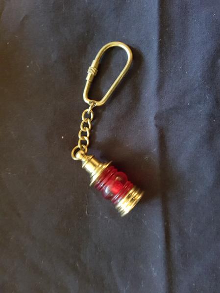 Key Ring 7 - Red Port Lantern