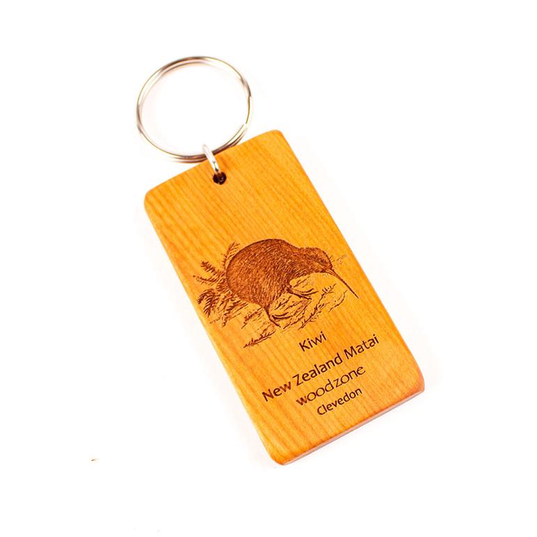 key ring with engraved kiwi - matai