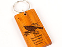 key ring with engraved tui bird - made from rimu