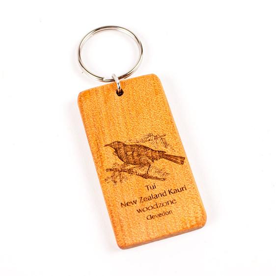 key ring with engraved tui - kauri