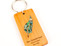 key ring with paua fern - kauri