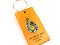 key ring with paua hook - kauri