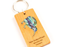 key ring with paua kiwi - kauri