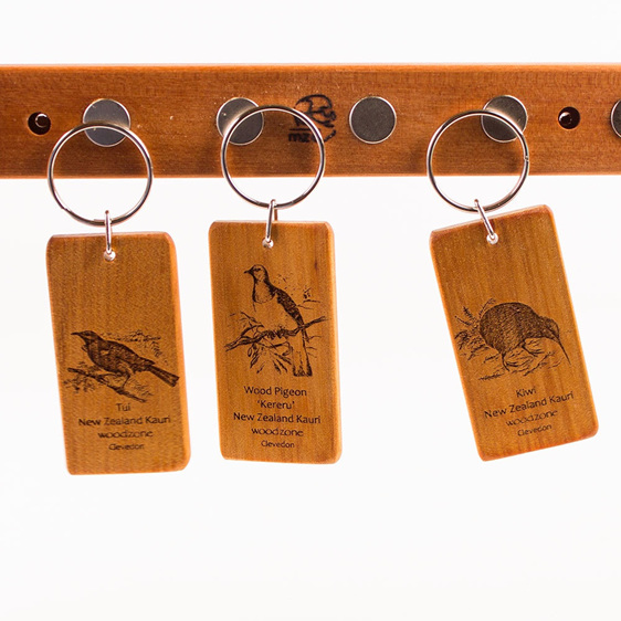 Key Rings with Engraved Birds