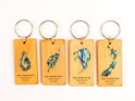 key rings with paua - kauri